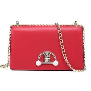 Handbags - Leather Cross body Bag Shoulder Handbag Chain